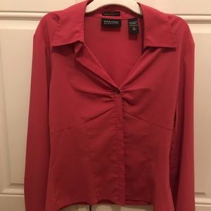 New York & Co pink blouse. Size 4